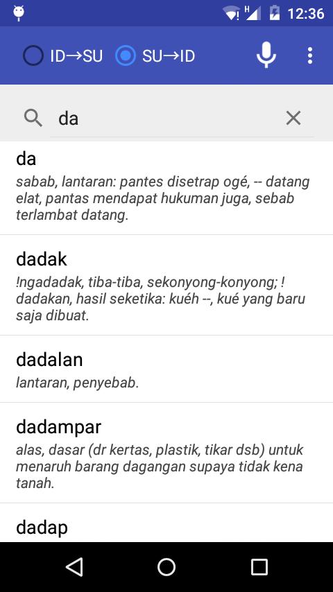 Kamus Sunda Indonesia- screenshot