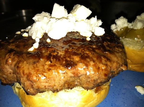 Sprinkle more Feta cheese onto burger (optional).