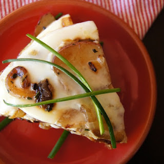 Caramelized Onion Potato Egg White Frittata