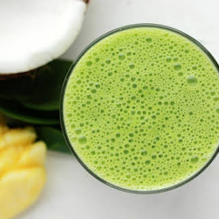 Coconut Pineapple Green Smoothie.