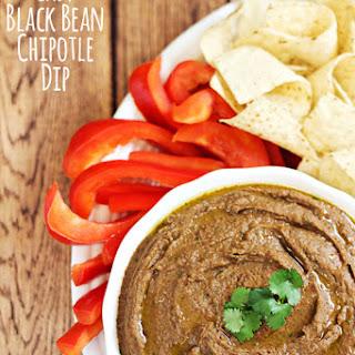 Easy Black Bean Chipotle Dip.