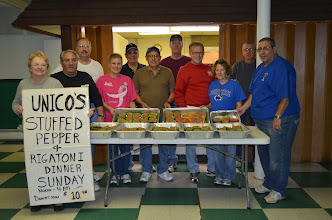 Photo: The Carbondale chapter of UNICO recently held their annual Stuffed Pepper Dinner . Helping to prepare the meal were: First Row: Pat Calabro , Chip Calabro, Yvonne Gatto, Nunzio Gatto, Jim Brannon, Mary Lynn Brannon and Joe Masco. Second Row: President Tom Gretzula, Jerry Arnese, Don Gibbs and Mike Dobrowski
