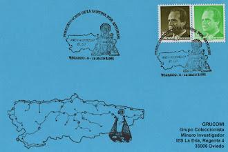 Photo: Matasellos de la peregrinación de la Santina por Vegadeo en 2001
