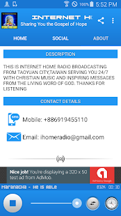 Internet Home Radio - náhled