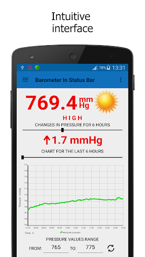 Barometer In Status Bar Lite 2.1.0 screenshots 3