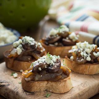 Caramelized Onion & Mushroom Crostini