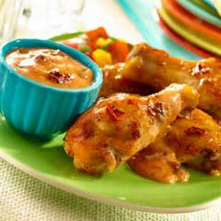 Guava Chipotle Wings With Creamy Dipping Sauce.