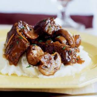 Slow-braised Beef Stew with Mushrooms.