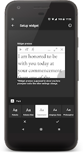 Oratory - teleprompter widget Screenshot