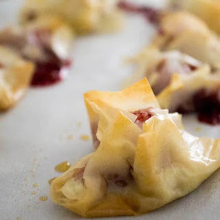 Lingonberry Goat Cheese Puffs