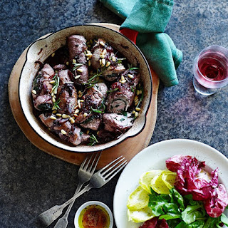 Pork Braciole With Currants And Rosemary.