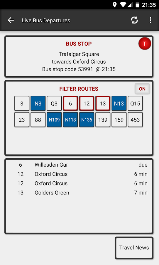 London Bus Master (Countdown)- screenshot