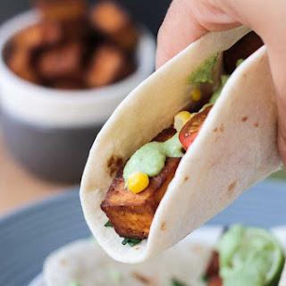 Baked Tofu Tacos w/ Creamy Cilantro Sauce