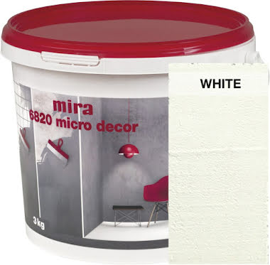 Väggspackel Mira Micro Decor 6820 White 3kg