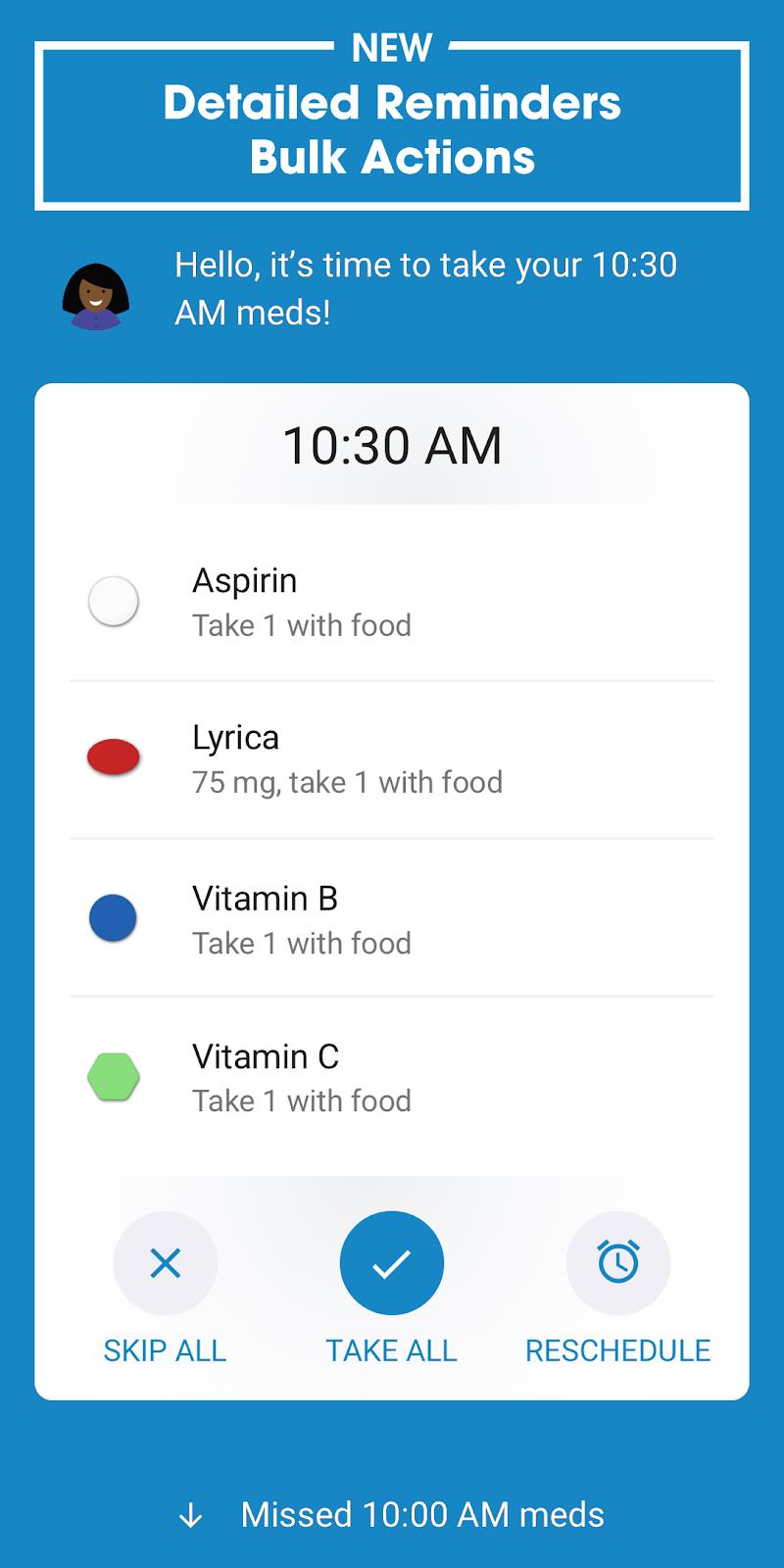 Pill Reminder and Medication Tracker by Medisafe Screenshot