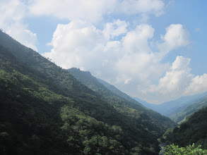 Photo: Mid elevation view of mountains in central Taiwan