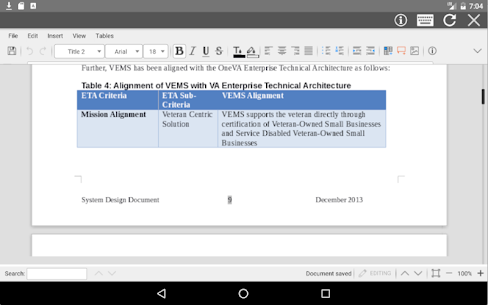 AndrOffice editor DOC XLS PPT 5