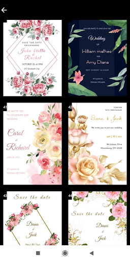 Invitation maker 2020 Birthday & Wedding card Free screenshot 6