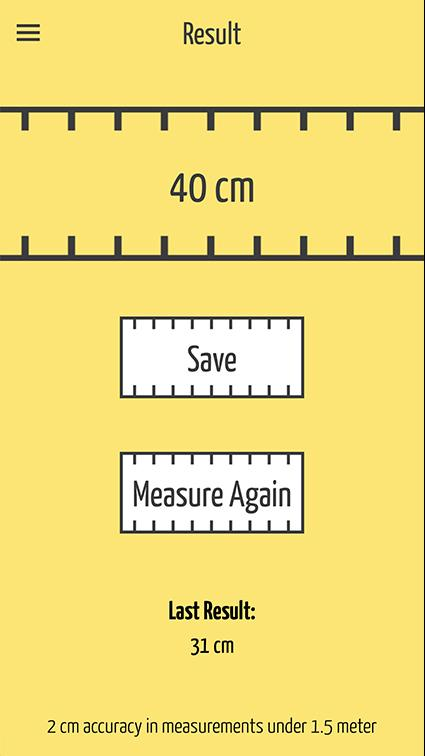 SizeUp – a Smart Tape Measure- screenshot