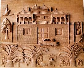 Photo: Tamaño: 60 x 75 cm. || Talla en madera. Woodcarving.   Puedes conocer más de este artista en el blog: http://tallaenmadera-woodcarving-esculturas.blogspot.com/