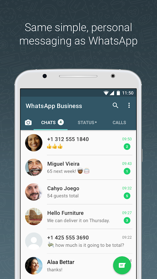 WhatsApp Business- screenshot