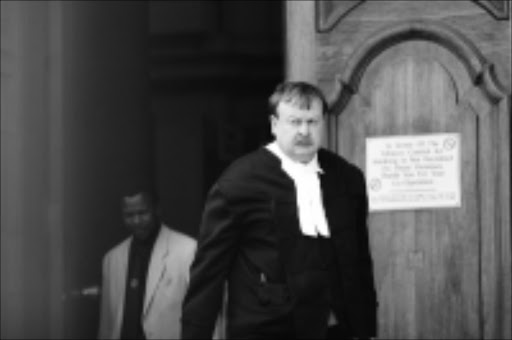 Legal eagle: Selebi's counsel, Jaap Cilliers SC, at the Johannesburg high court this week. Pic.BAFANA MAHLANGU.  20/10/2009. © Sowetan.