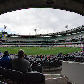 by Calum Russell - Sports & Fitness Australian rules football ( australia, mcg, sport, afl, footy )