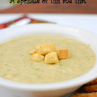 Broccoli and Cheddar Cheese Soup.