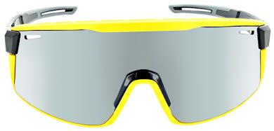 Optic Nerve Fixie Max Sunglasses - Black, Yellow Lens Rim, Smoke Lens with Silver Flash alternate image 2