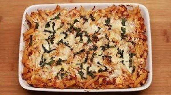 Baked Parmesan/mozzerella Chicken & Pasta Recipe