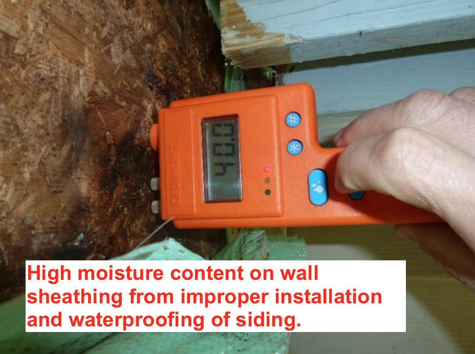 wet wall sheathing from construction defect