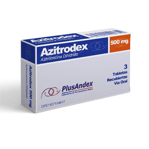 Azitromicina Azitrodex 500 mg x 3 Tabletas