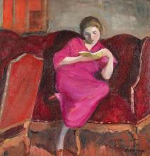 "Photo: Henri Lebasque, ""Ragazza che legge sul divano"""