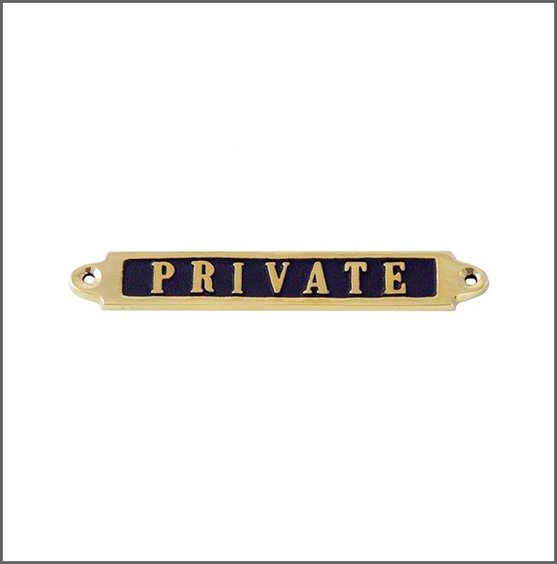 Mässingsskylt - Private