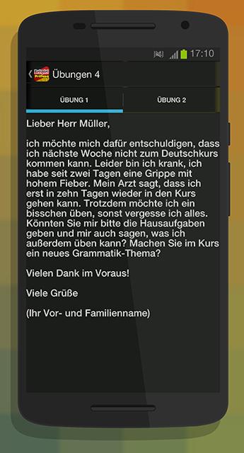Briefe Schreiben Deutsch Als Fremdsprache übungen Für A2 Und B1 : Beispiel für brief schreiben android apps on google play