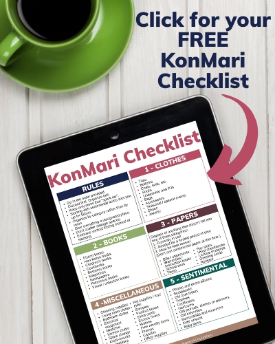 Click for KonMari Checklist
