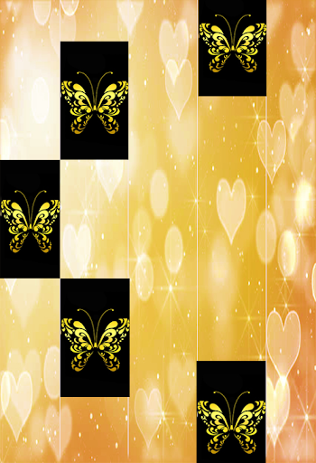 Gold Glitter ButterFly Piano Tiles 2018 1.4 DreamHackers 6