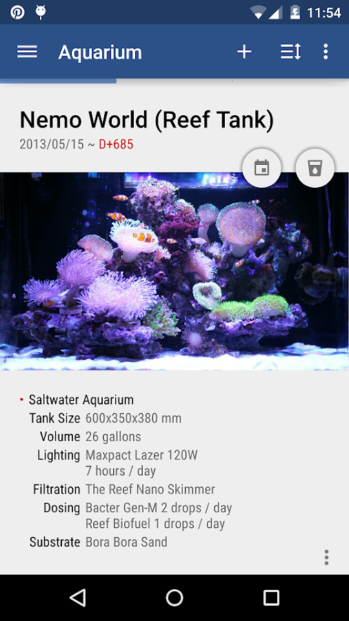 Aquarium Note- screenshot