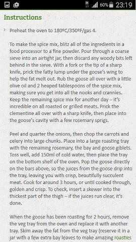 android Goose Recipe Screenshot 3