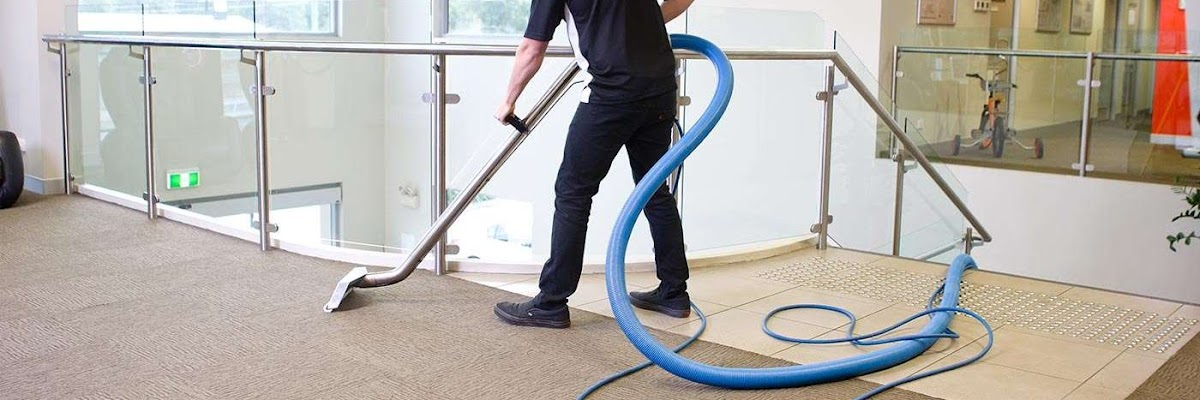 Man Carpet Cleaning