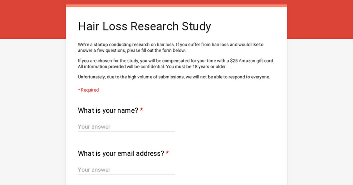 Hair Loss Research Study