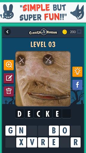 Close Up Horror: Pic Word Quiz screenshot 15