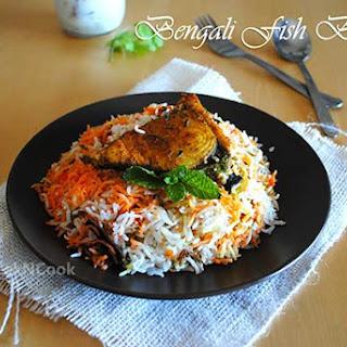 Bengali Style Fish Biryani