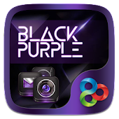 Black Purple GO Launcher Theme