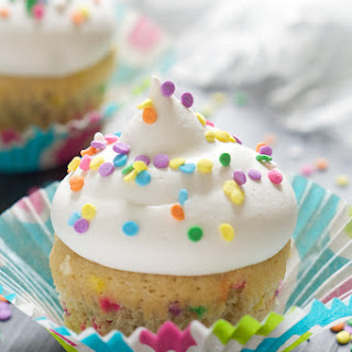 Greek Yogurt Funfetti Cupcakes for Two.