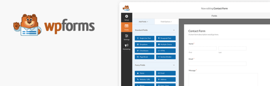 Download WPForms in WordPress