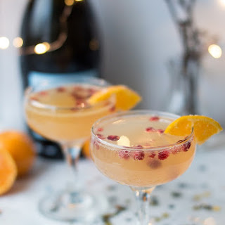 Clementine Champagne Cocktail.