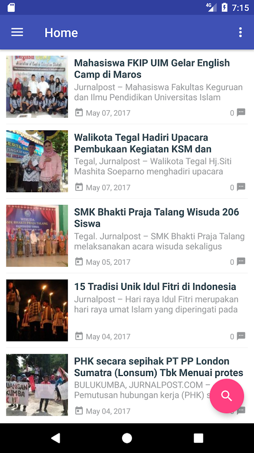 Jurnal Post- screenshot