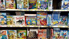 Sección de juegos de mesa en una tienda de juguetes infantiles. / Eduardo Parra