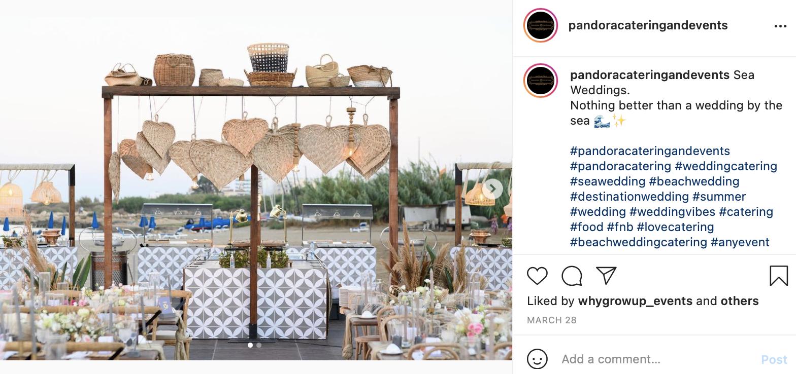 food for beach wedding